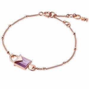 BNWT MK Padlock Amethyst Bracelet